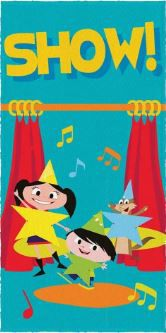 Toalha Felpuda de Banho Estampa Show da Luna Show - Lepper Ref 061092