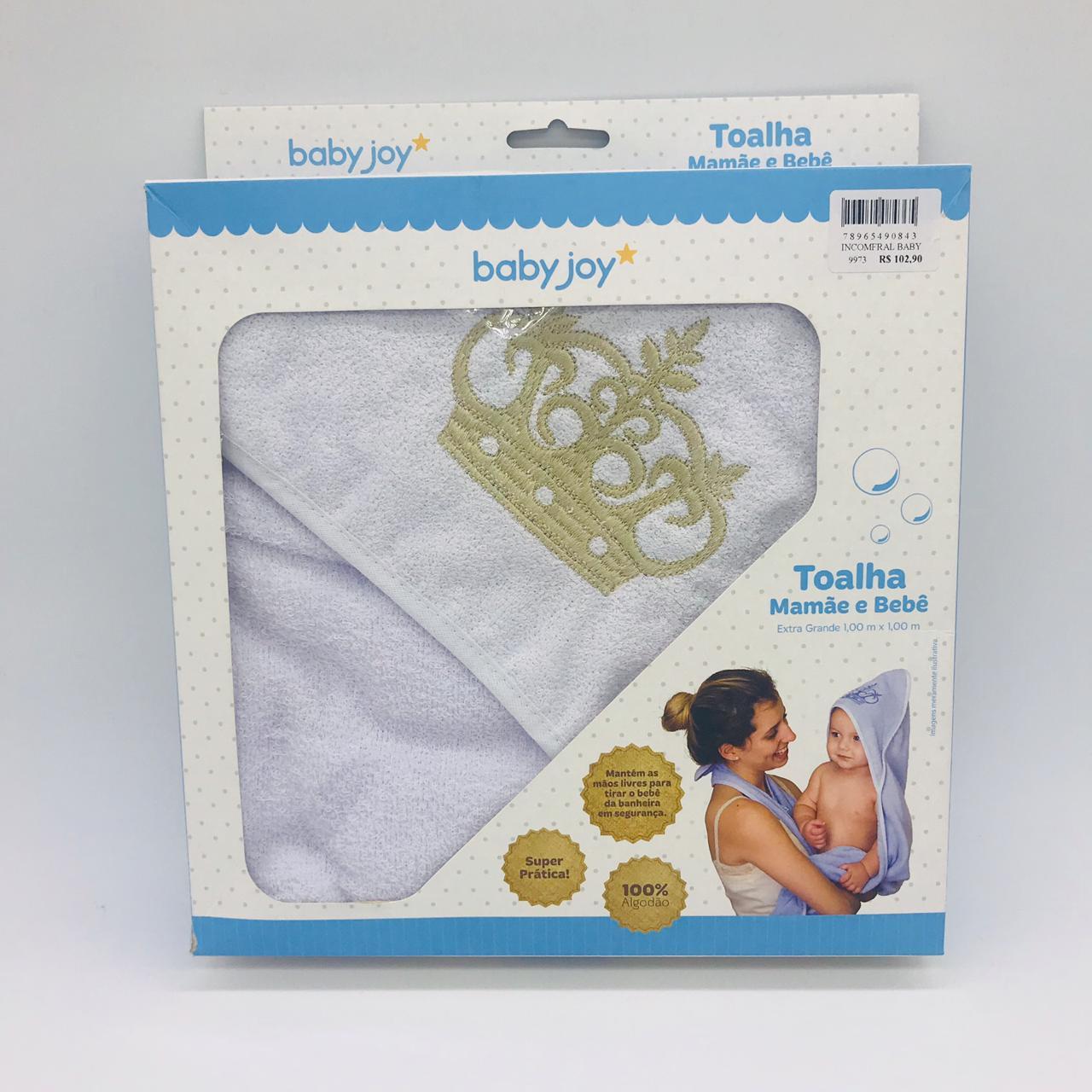 Toalha Mamãe e Bebê Extra Grande Dourado - Baby Joy Incomfral Ref 04043311010002