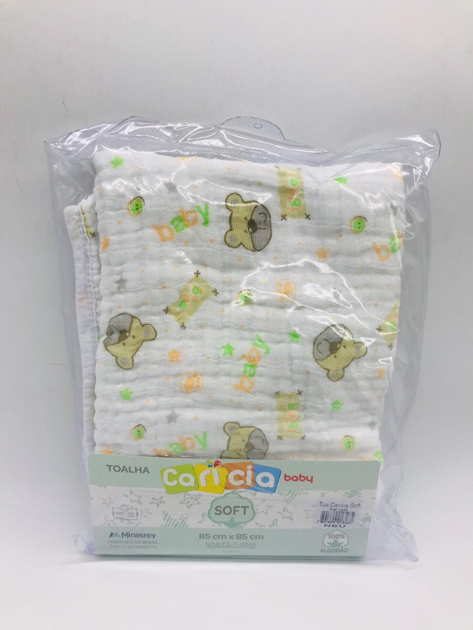 Toalha Soft Caricia Baby Neutro - Minasrey Ref 1348