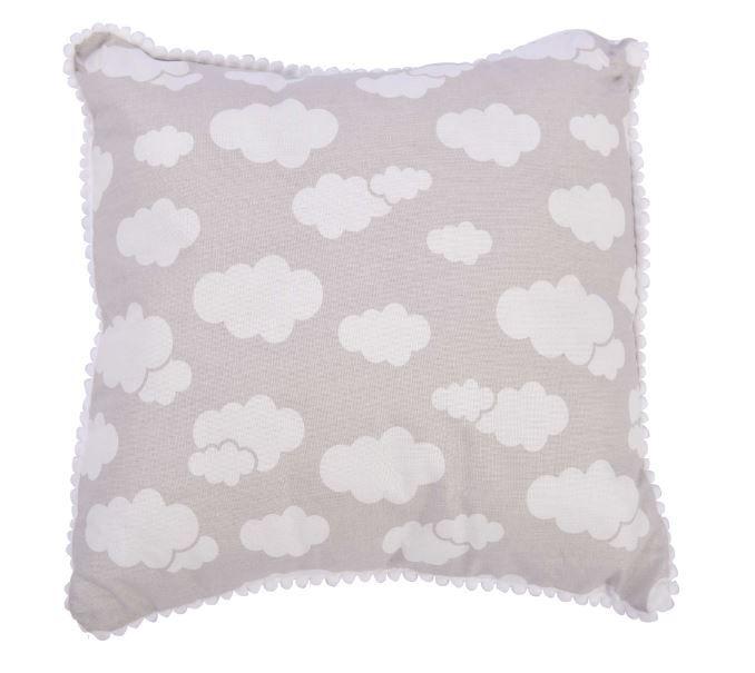 Travesseiro 30x30 Nuvem Cinza - Alvinha Minasrey Ref 5830