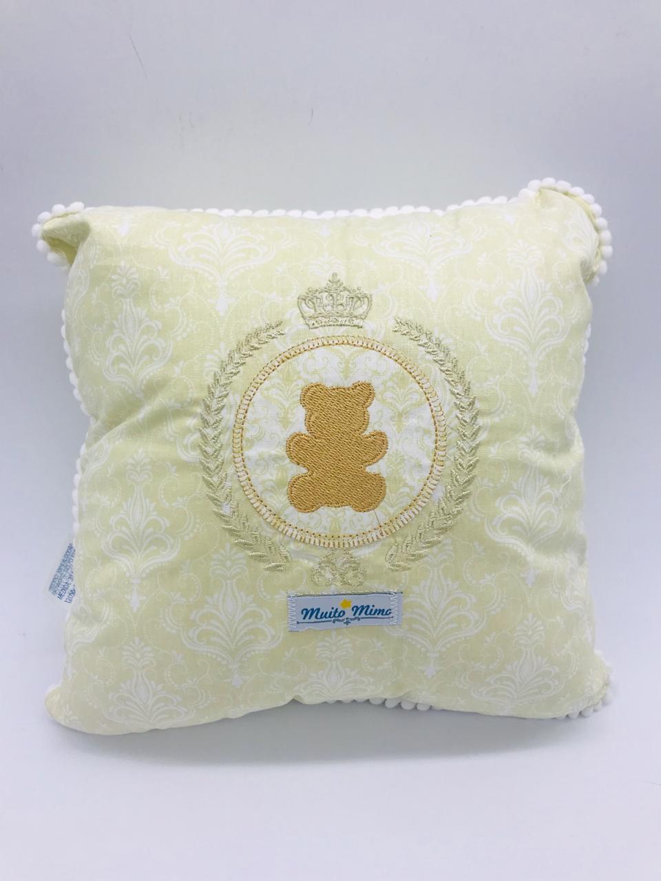 Travesseiro 30x30 Ursinho Bege - m Mimo Minasrey Ref 5542