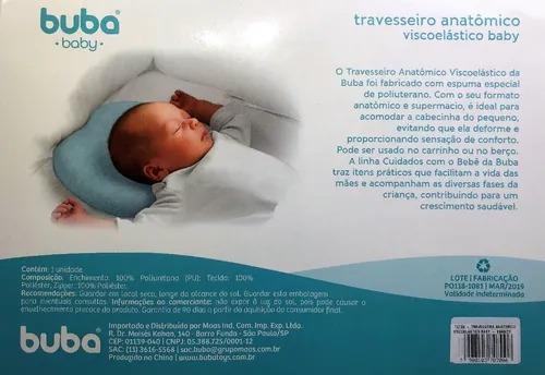 Travesseiro Anatômico Viscoelastico Baby Branco - Buba Ref 10700