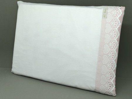 Travesseiro  Bordado Inglês Rosa 400 Fios - ac Baby Ref 5351