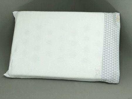 Travesseiro c/ Fronha Anti Sufocante Triangulo Cinza 22x32 - ac Baby Ref 05346