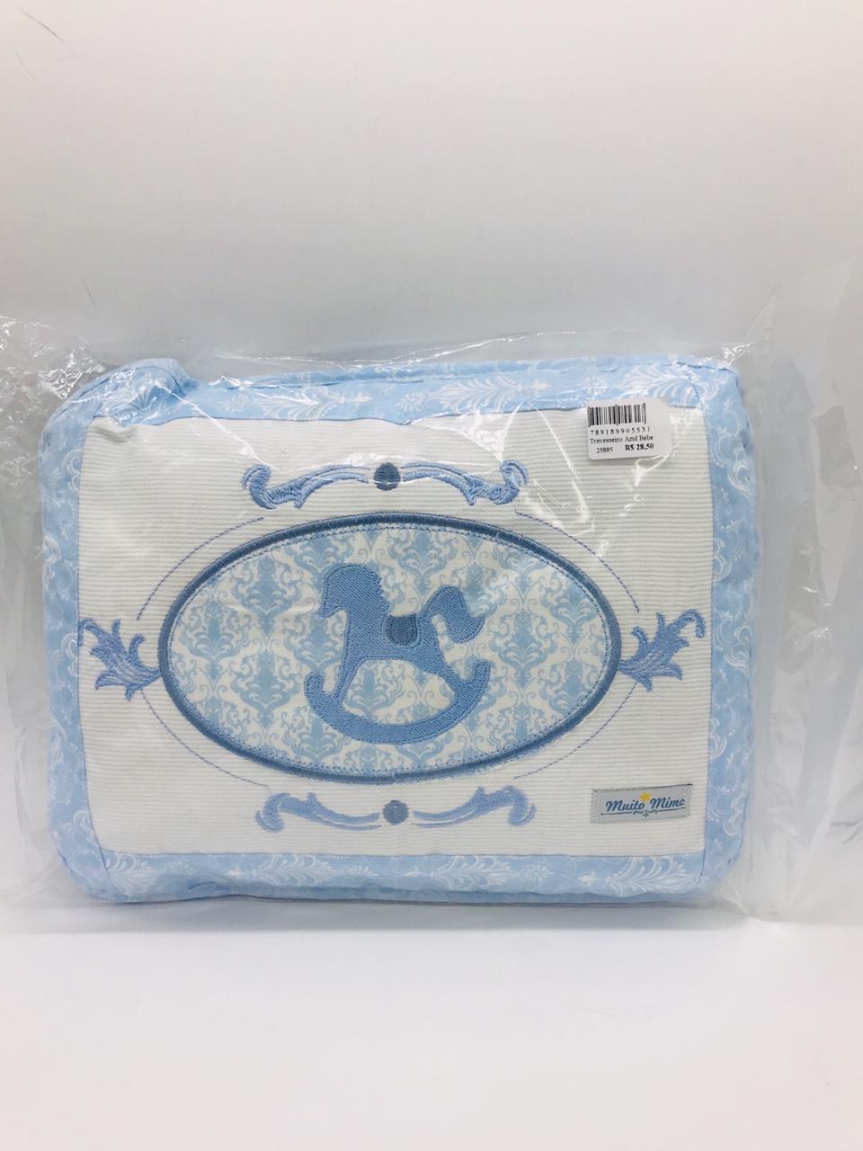 Travesseiro Cavalinho Azul g 28x35 - m Mimo Minasrey Ref 5531