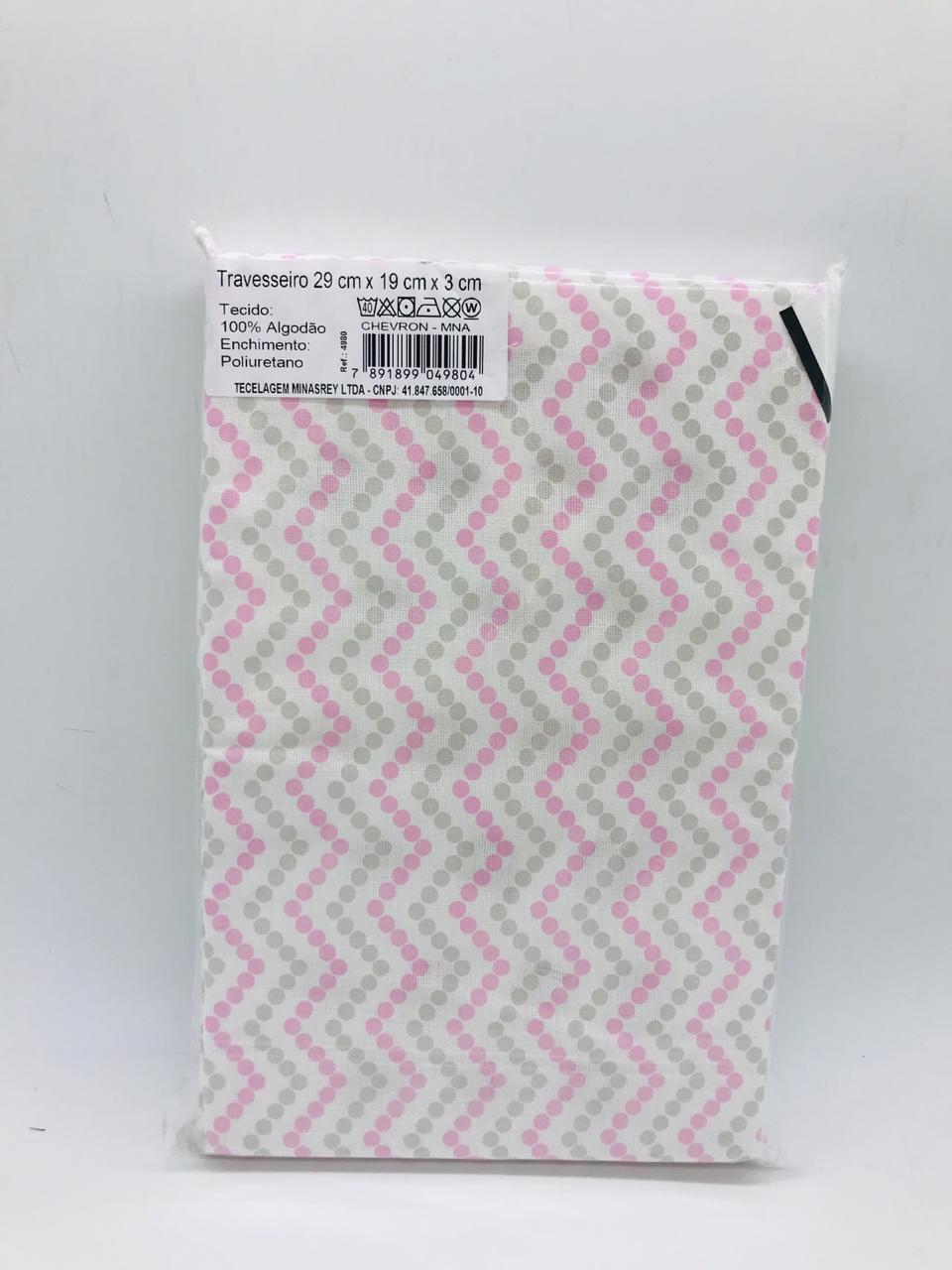 Travesseiro Compose Chevron Rosa e Cinza - Baby Gijo Ref 4980