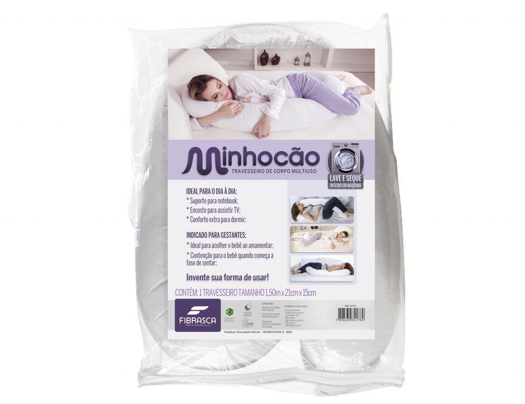 Travesseiro Minhocão - Fibrasca Ref 4178