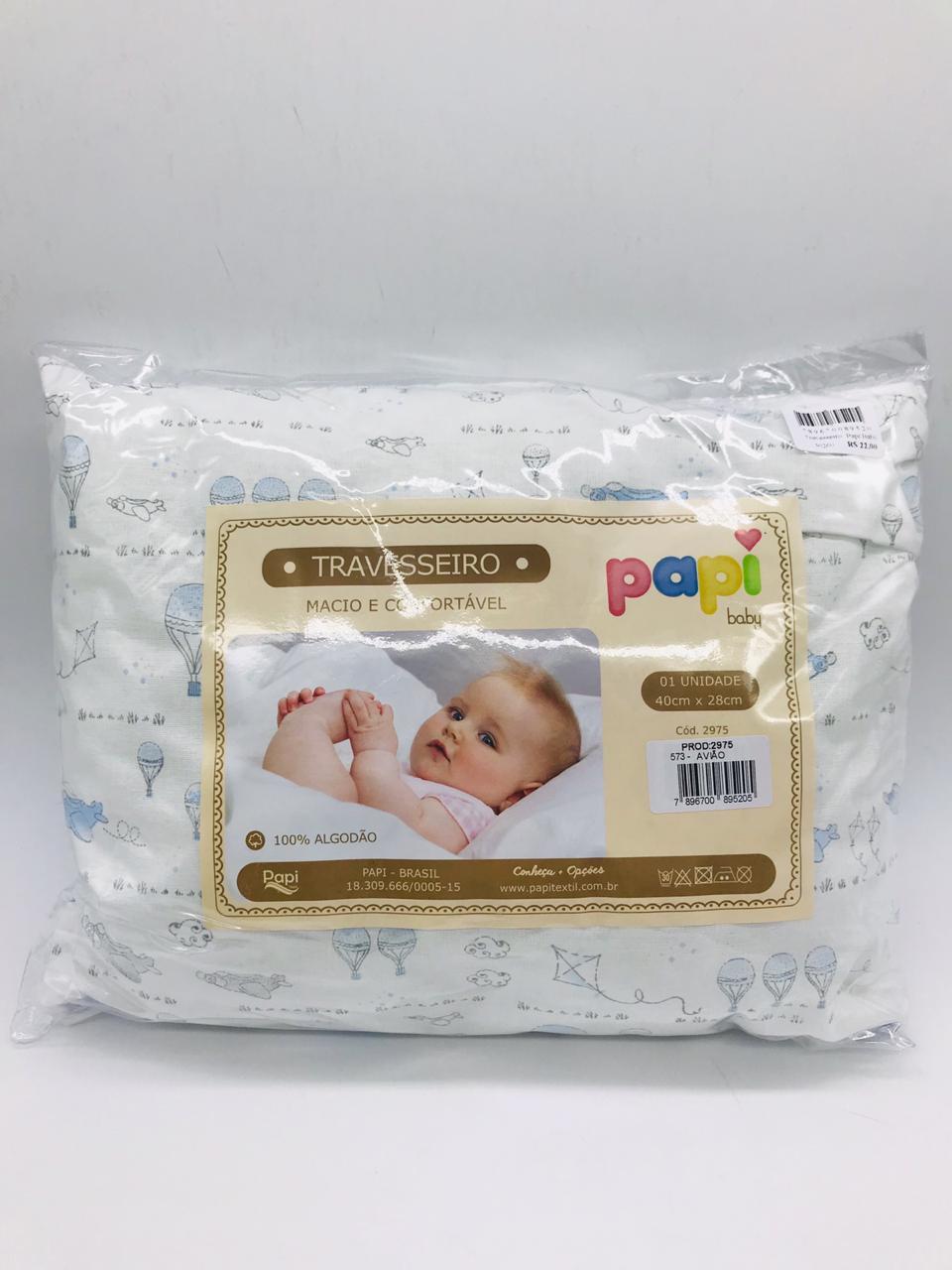 Travesseiro Papi Baby Avião - Papi 573