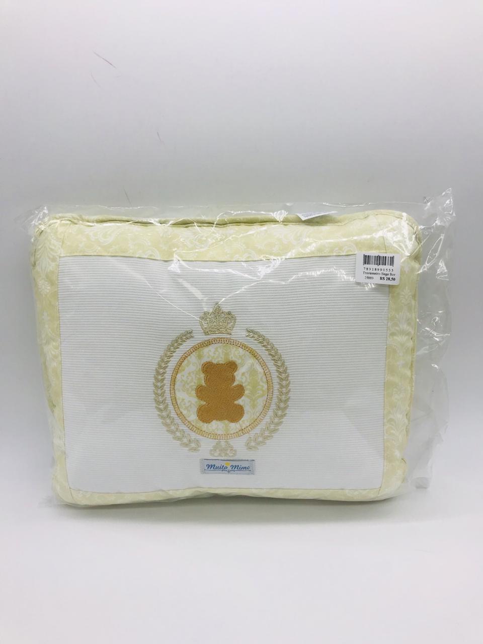 Travesseiro Ursinho Triangulo Bege g 28x35 - Minasrey Ref 5533