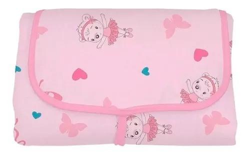 Trocador de Fraldas Portatil Rosa - Bambi