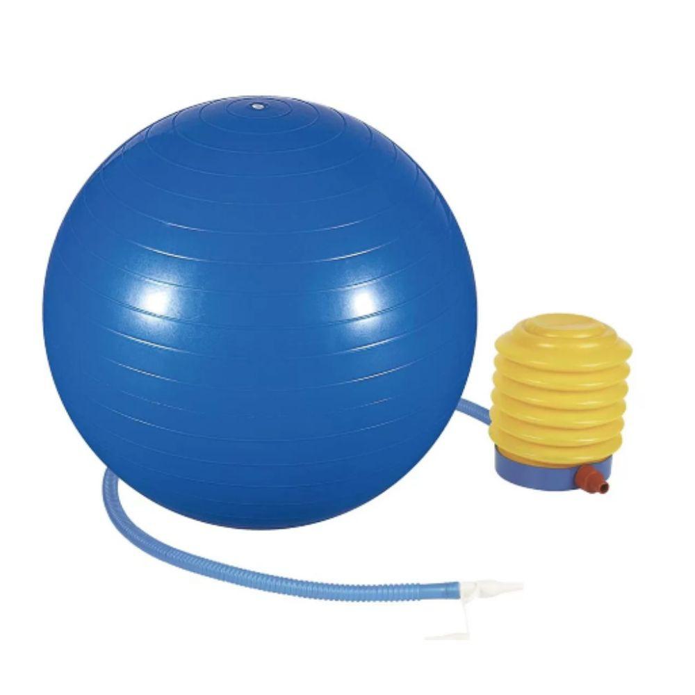 Bola de Ginástica 65cm Suiça para Yoga e Pilates com Bomba de Pé