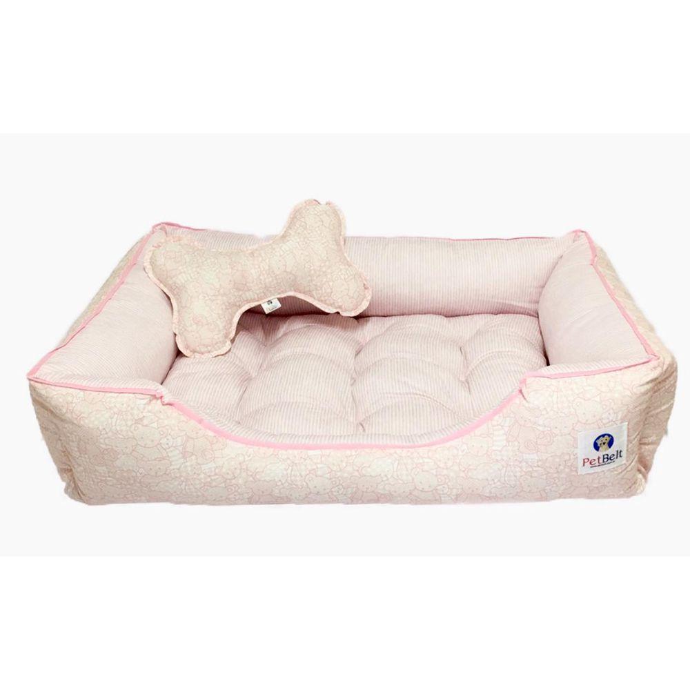 Cama Pet 100% algodão Cachorro Gato almofada removível - Tam M - Ursinhas