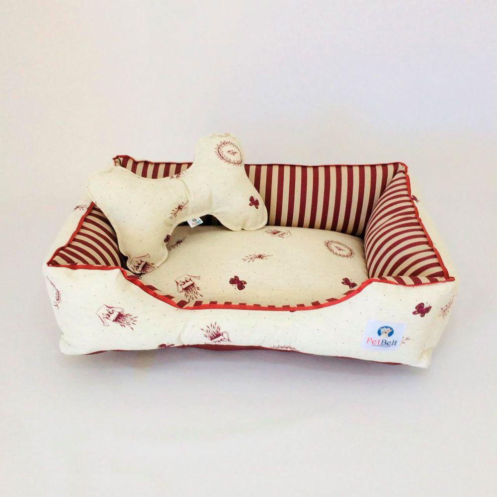Cama Pet de Linho Cachorro Gato c/ zíper - Tam P - Lê Petit