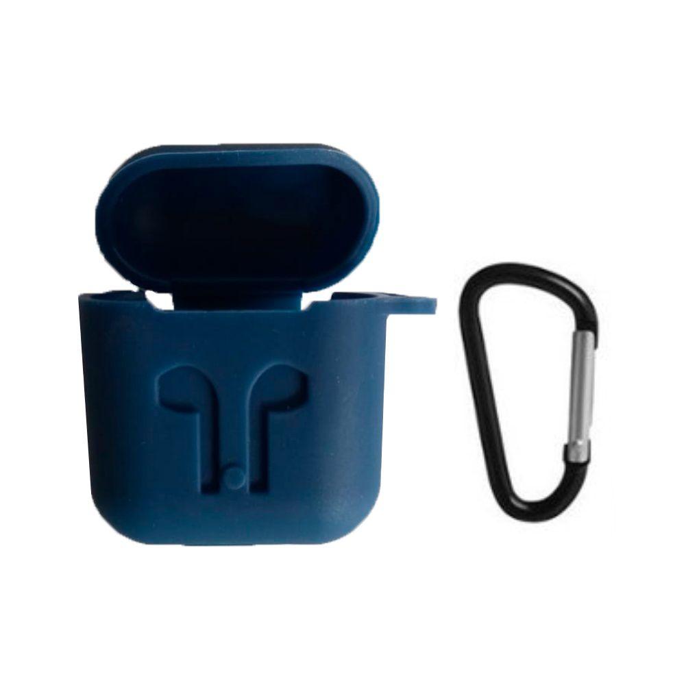 Capa Case Especial de Silicone para Airpods Azul Escuro