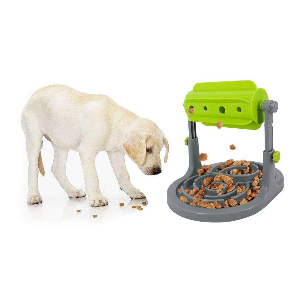 Comedouro Interativo Cachorro e Gato Tigela de Comida Pote para Ração