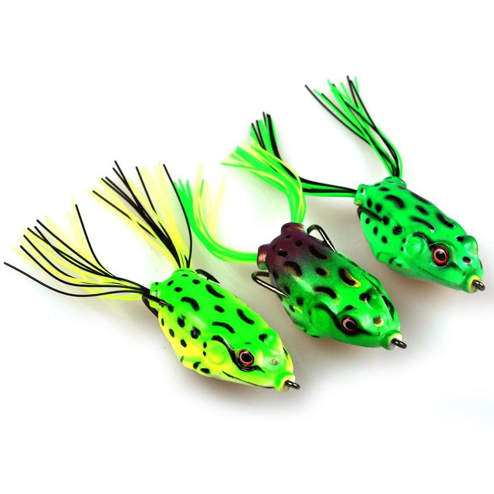 Isca Artificial Sapinho Frog Tropical de Silicone Pack com 15