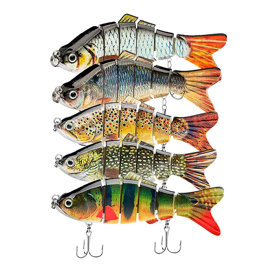 Isca de Pesca kit com 5 Artificial Lambari