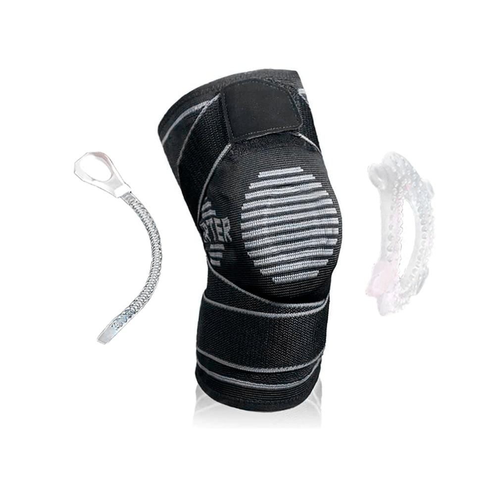 Joelheira de Compressão com Silicone Patelar e Hastes Flexíveis