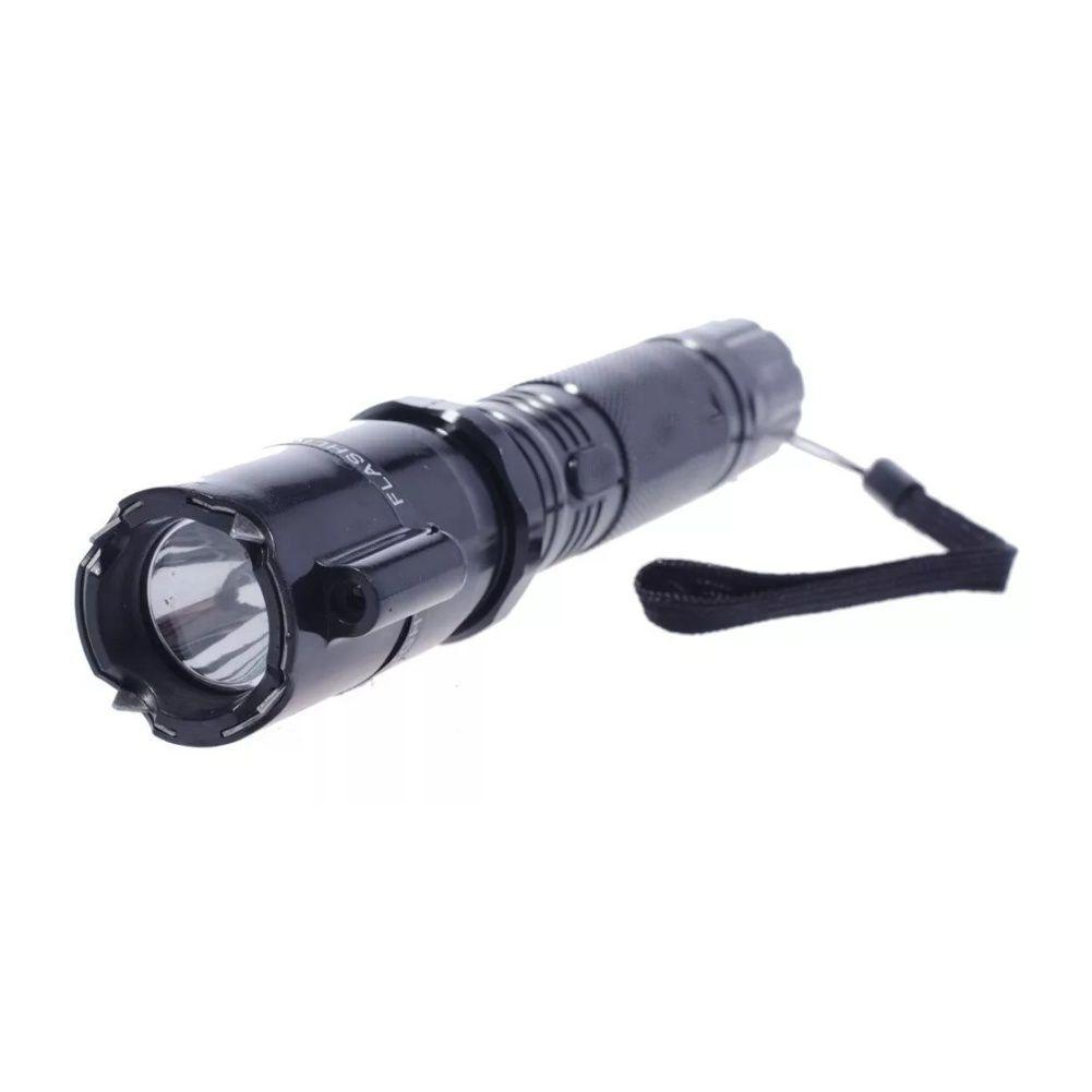 Lanterna Choque Com Laser Recarregável Led Taser Defesa Pessoal