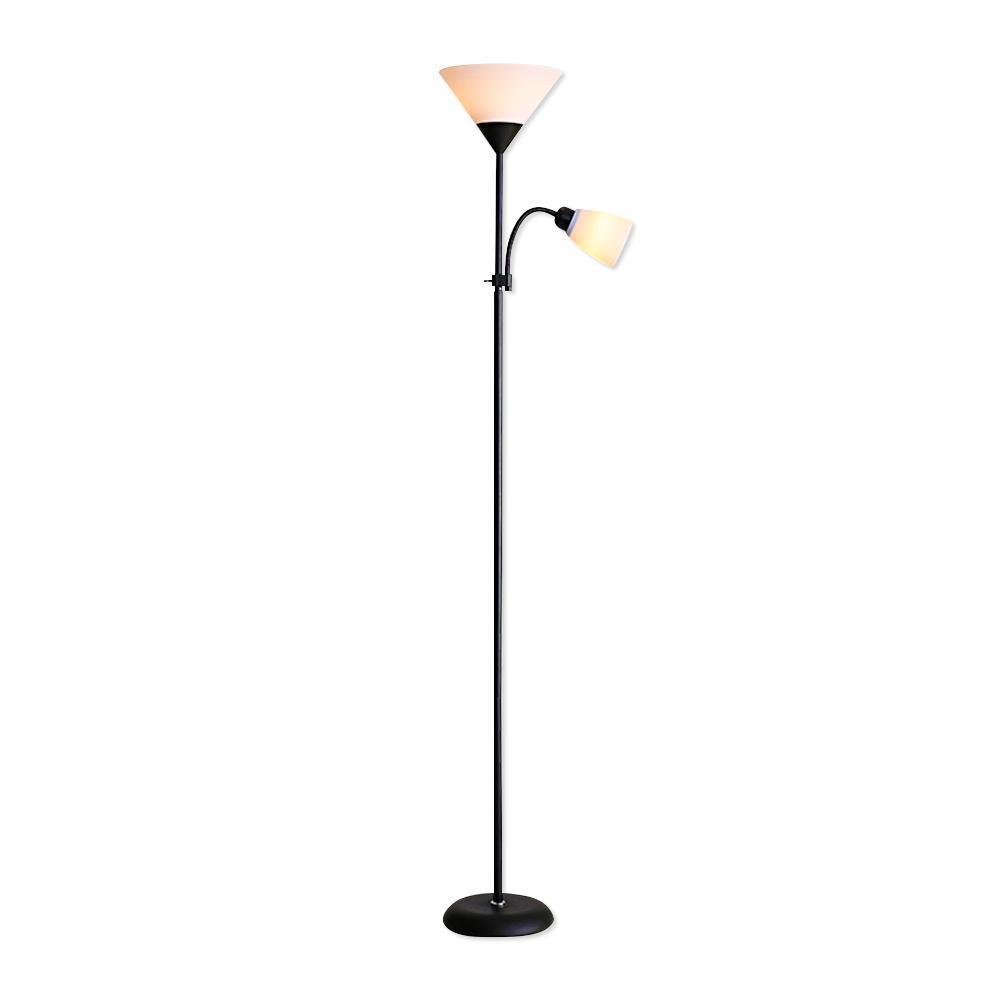 Luminária de Piso Articulada Duas Lâmpadas Abajur