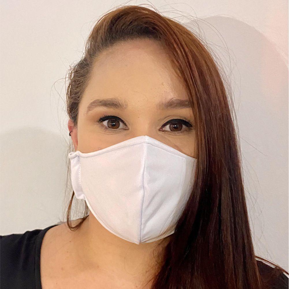 Mascara de Proteção Reutilizável com Tecido Duplo 100% Poliéster Kit com 10