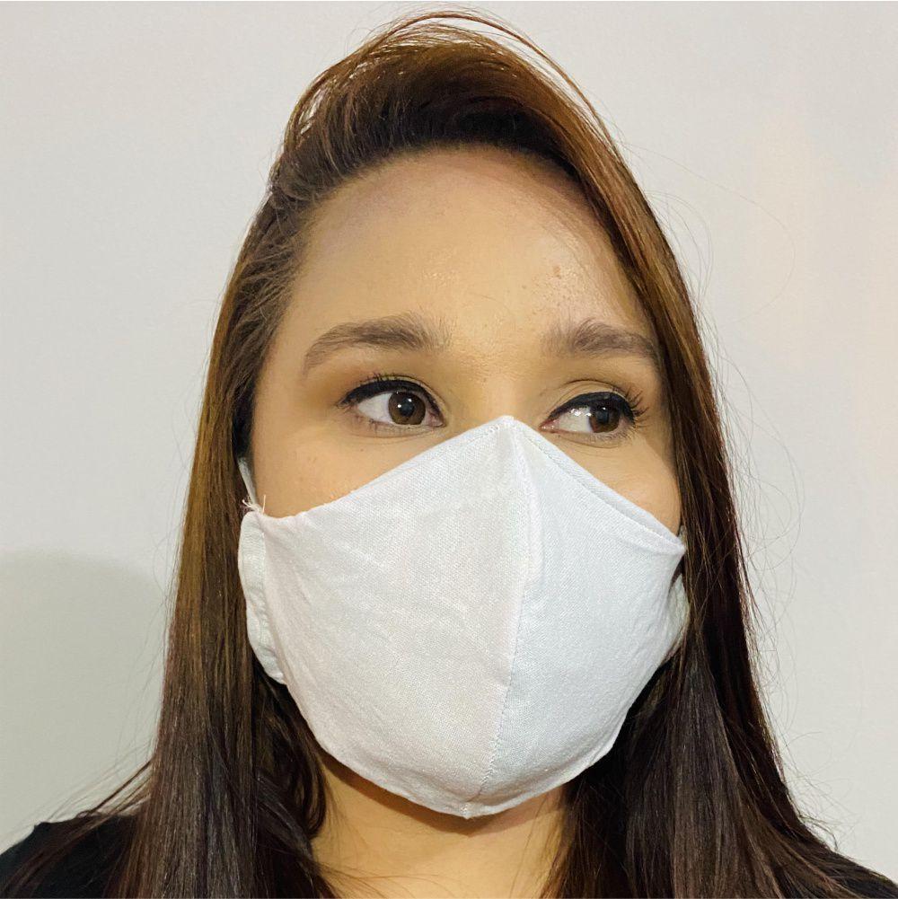 Mascara de Proteção Reutilizável com Tecido Duplo e Filtro em TNT Kit com 7