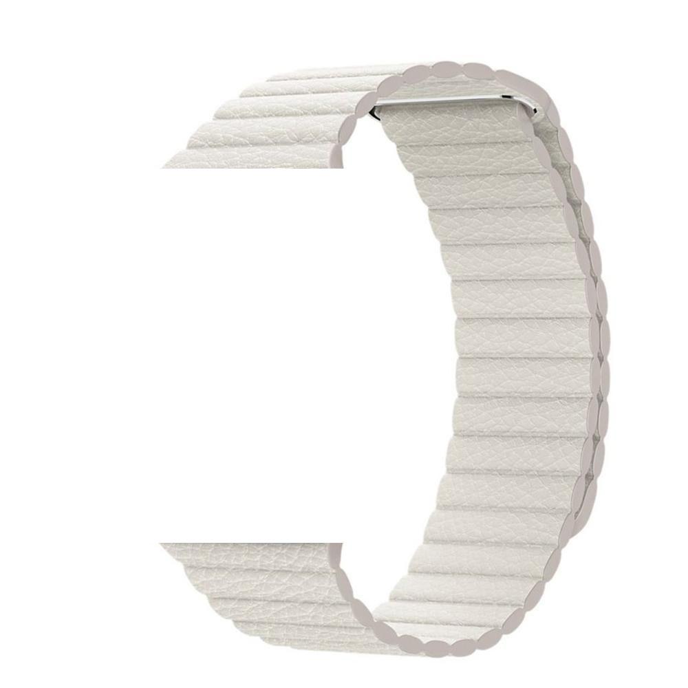 Pulseira de Couro Loop Magnetica para Smart WATCH - 42/44mm - Branco