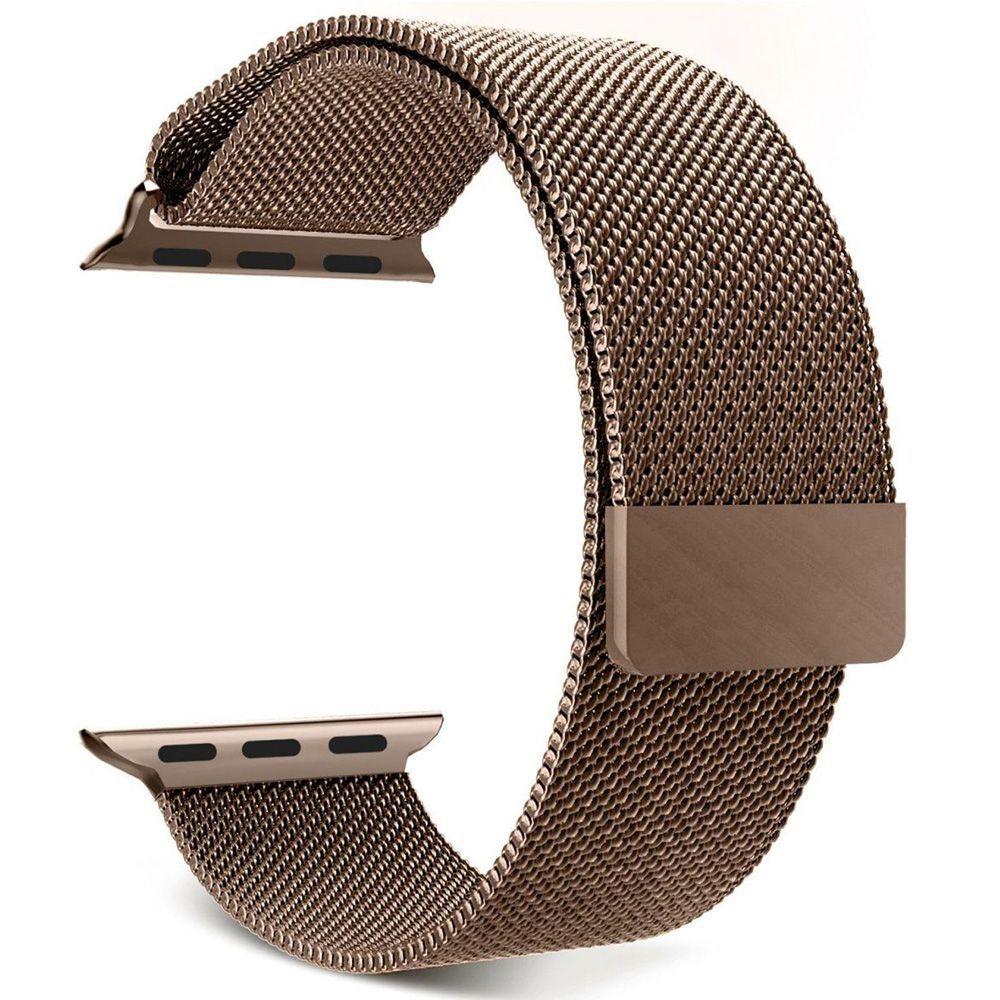Pulseira Aço Smart Watch 42/44mm Cor Ouro Bronze