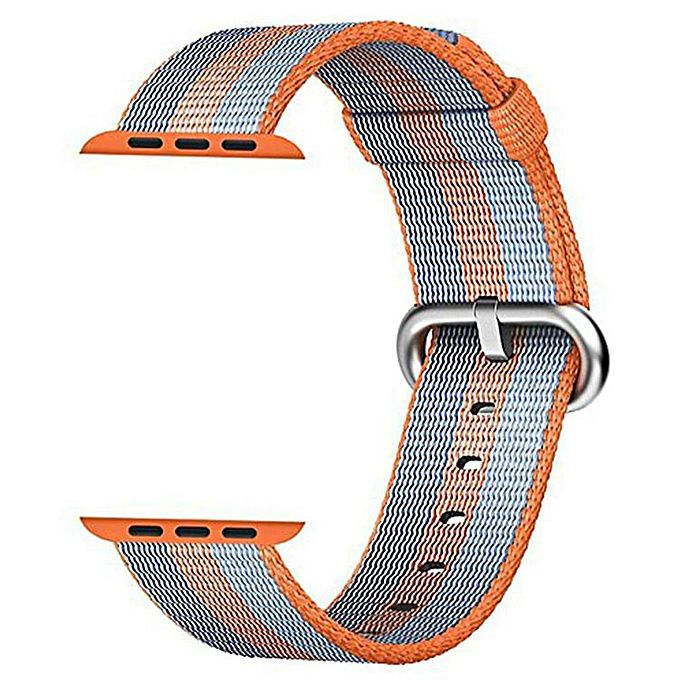 PULSEIRA Nylon Sport Loop para Apple Watch 42/44 mm - Laranja e Azul