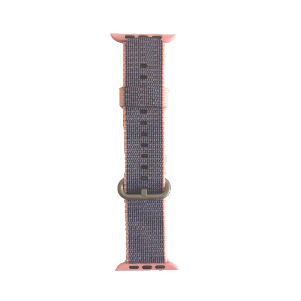 Pulseira Nylon Sport Loop para Apple Watch 42/44 mm - Lilás e Rosa