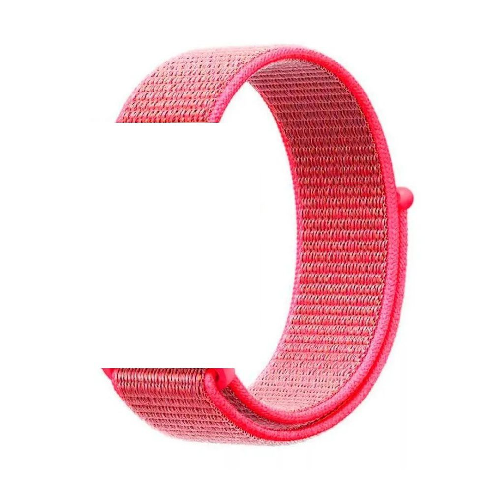 PULSEIRA Nylon Sport Loop STRAPS para Apple Watch 42/44 mm - Rosa Chiclete