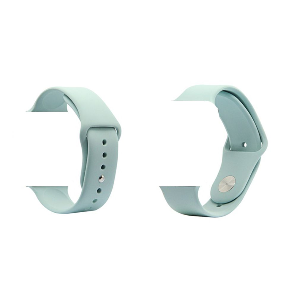 Pulseira de Silicone Smart Watch Esportiva 42/44 mm Azul Tiffany (Cyan)