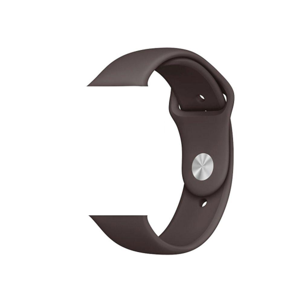 Pulseira de Silicone Smart Watch Esportiva 42/44 mm Marrom Escuro