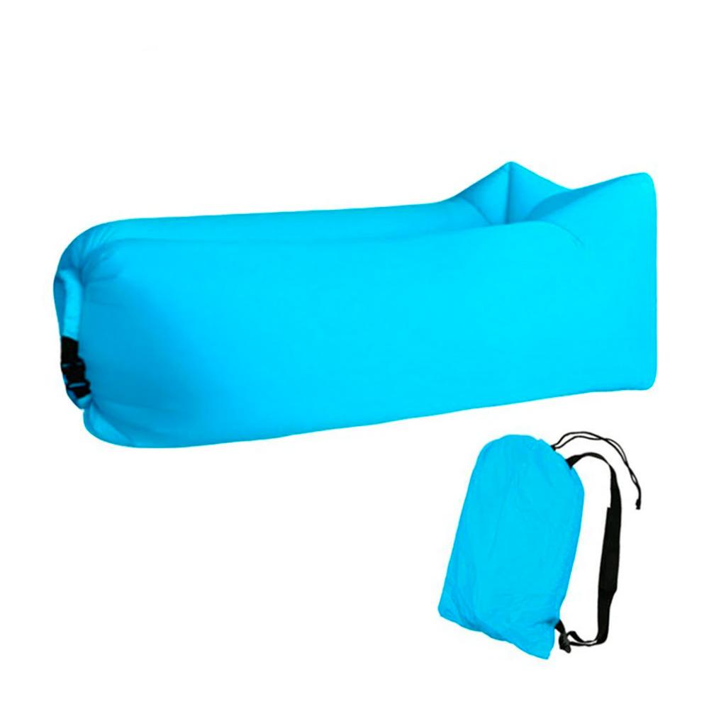 Sofá Inflável de Ar Portátil para Praias Piscinas e Camping Azul