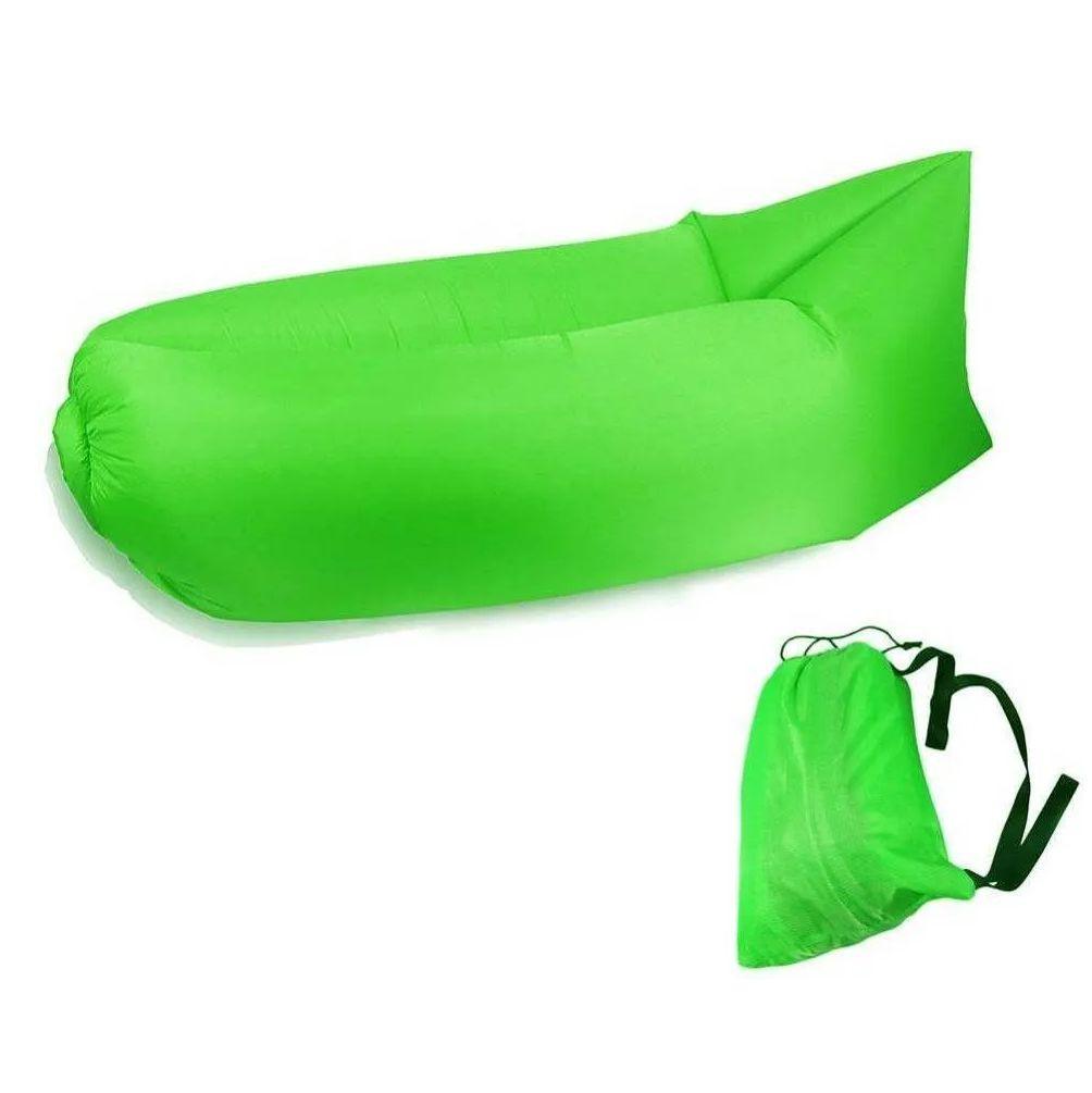 Sofá Inflável de Ar Portátil para Praias Piscinas e Camping Verde