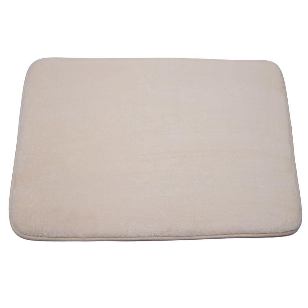 Tapete de Banheiro kit com 2 creme super soft com espuma viscoelastica