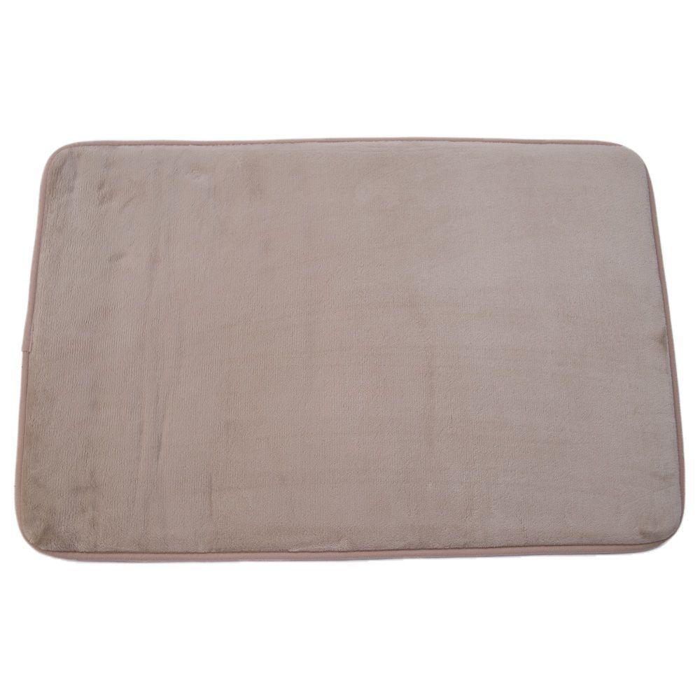 Tapete de Banheiro kit com 2 marrom super soft com espuma viscoelastica
