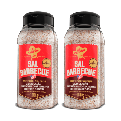 2x Sal Barbecue Americano com Pimenta 1,010kg DECABRÓN