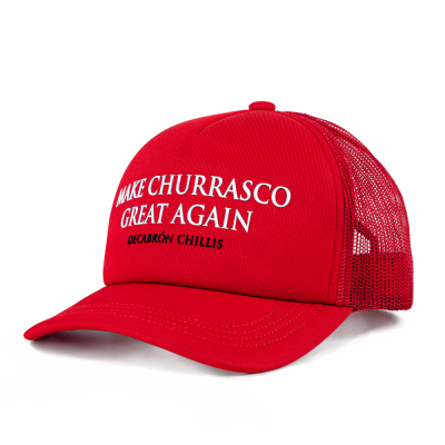 Boné trucker 'Make Churrasco Great Again'