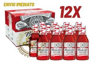 CAIXA COM 12 MOLHOS DE PIMENTA BUDWEISER 210ml