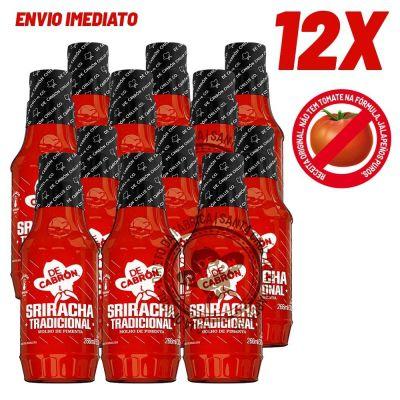 CAIXA COM 12 SRIRACHA TRADICIONAL DECABRÓN 266 ml