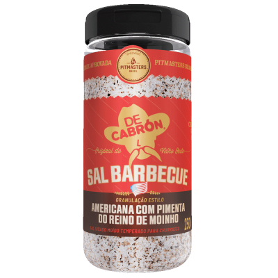 Sal barbecue americano com pimenta do reino 250g