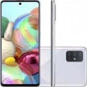Smartphone Samsung Galaxy A71 128GB Dual Chip Android Tela 6,7 Octa-Core 2.2 GHz 4G Câmera Quádrupla 64MP(Principal)+12MP(Ultra Wide)+5MP(Macro)+5MP(Profundidade) Filmadora 4K