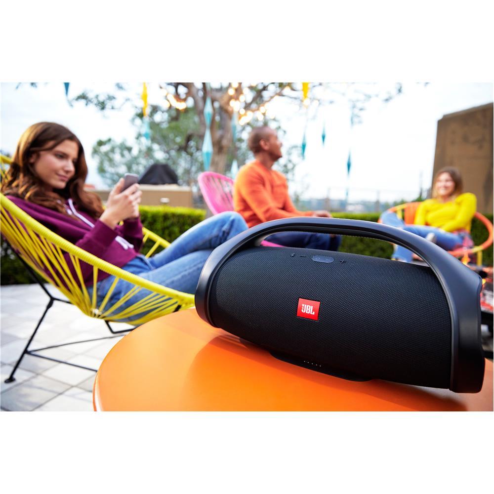 Caixa de Som Portátil JBL Boombox com Bluetooth, Connect, À prova dágua - Preta