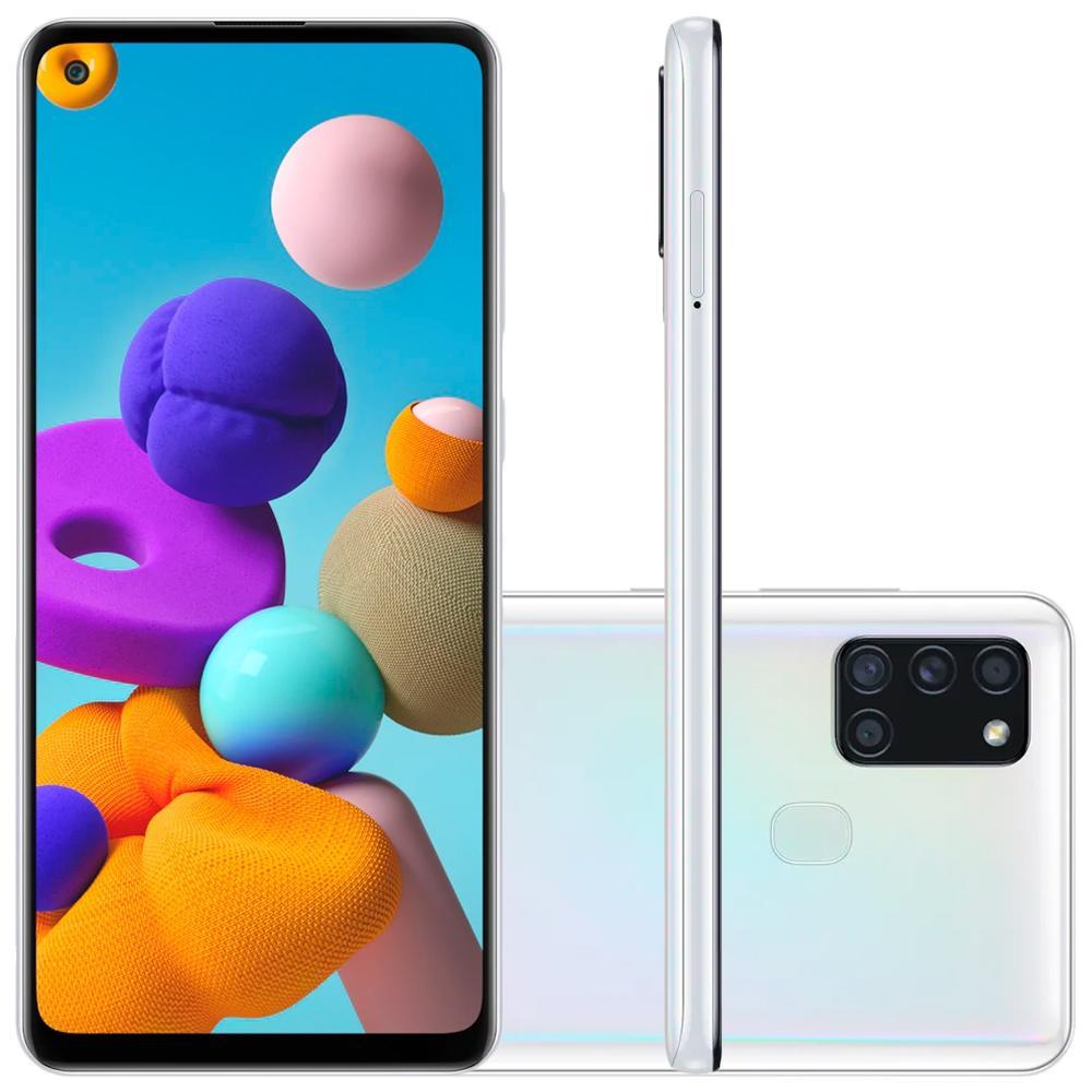 Smartphone Samsung Galaxy A21s 64gb Dual Chip Android 10 Tela 6.5 Octa-Core 64GB 4G Câmera Quádrupla 48MP+8MP+2MP+2MP