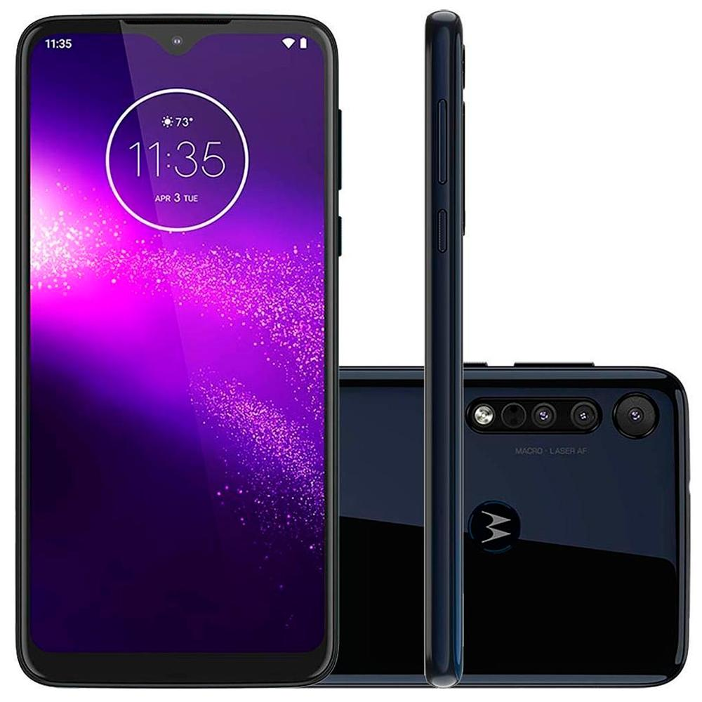 "Motorola One Macro 64GB Dual Chip Android Tela 6.2"" 4G 13MP + 2MP + 2MP"