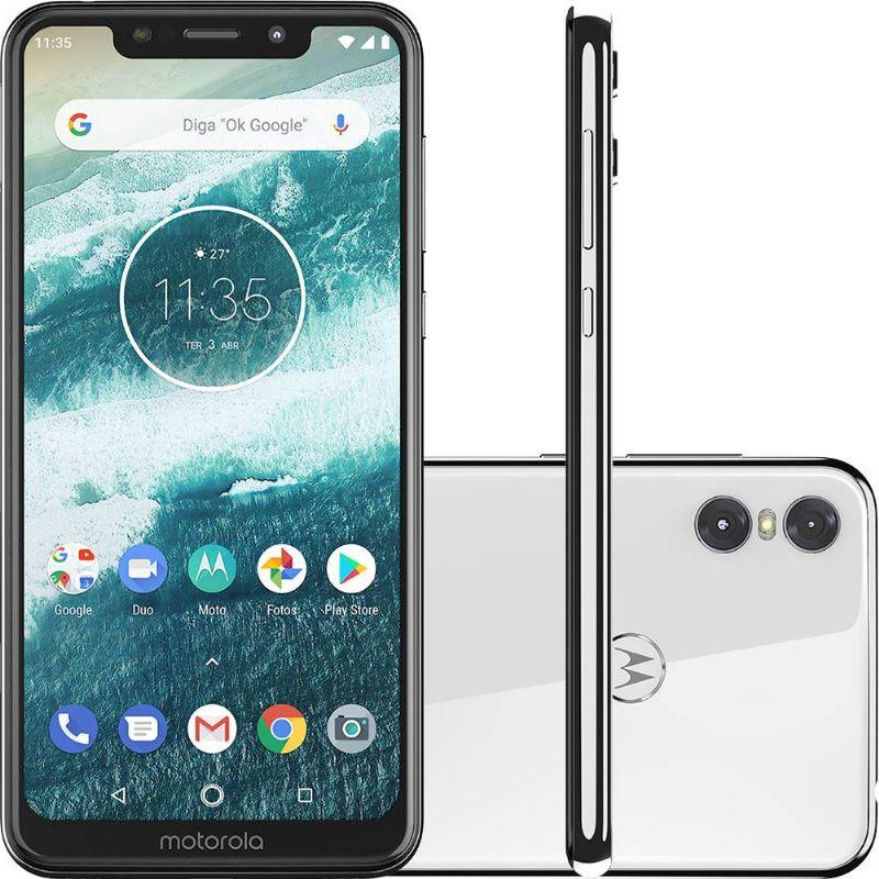 Smartphone Motorola One 64GB Dual Chip Android Oreo 8.1 Tela 5.9