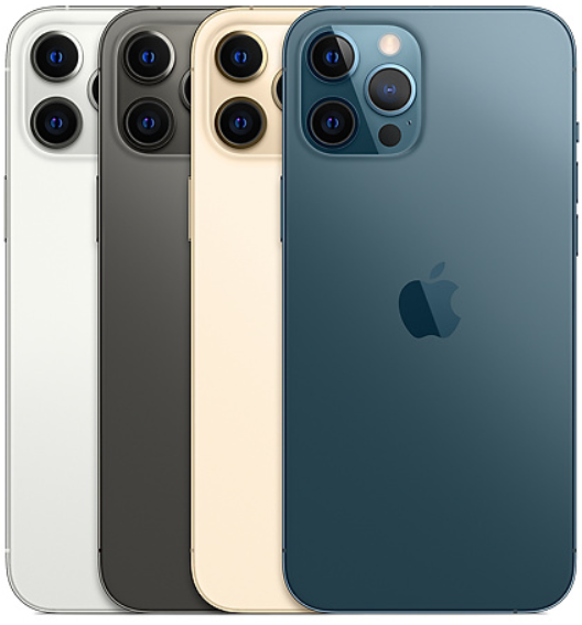 "iPhone 12 Pro Max 128GB iOS 5G Wi-Fi Tela 6.7"" Câmera - 12MP + 12MP + 12MP + Sensor LiDAR - Apple"