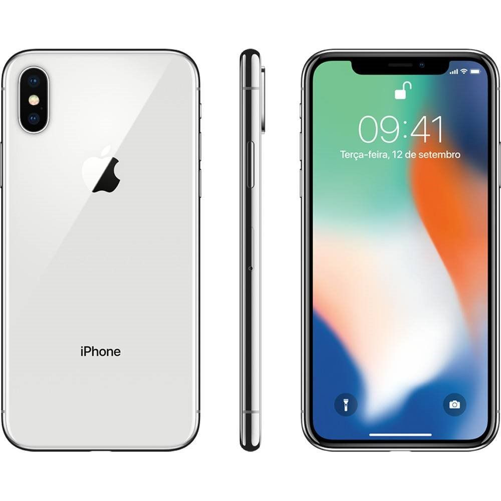"iPhone X 64GB Tela 5.8"" IOS 11 4G Wi-Fi Câmera 12MP - Apple"