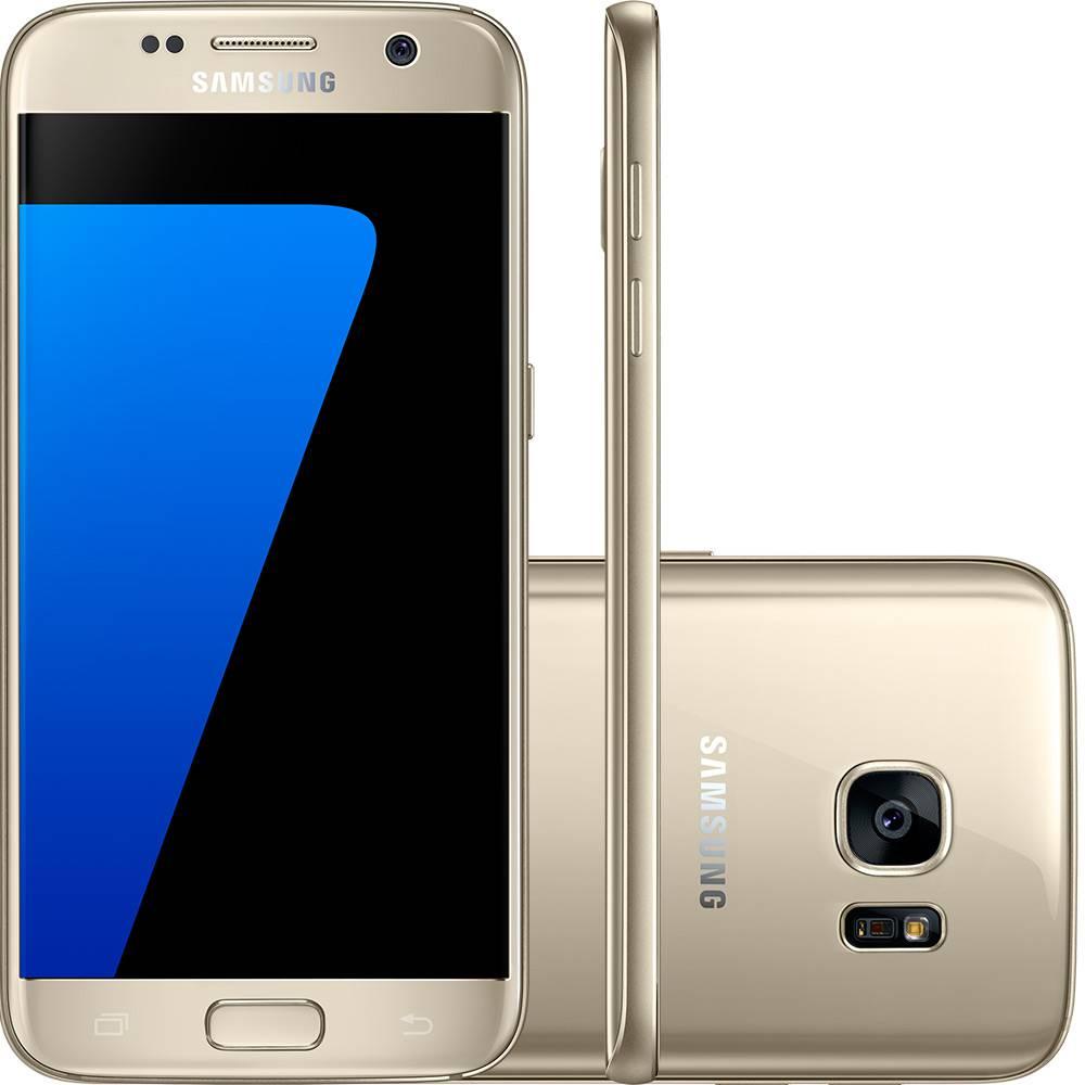 "Seminovo de Vitrine - Samsung Galaxy S7 4G LTE Android Mobile Phone Exynos Octa Núcleo 5.1"" 12MP & 5MP RAM 4GB ROM 32GB WIFI GPS (Singal SIM)"